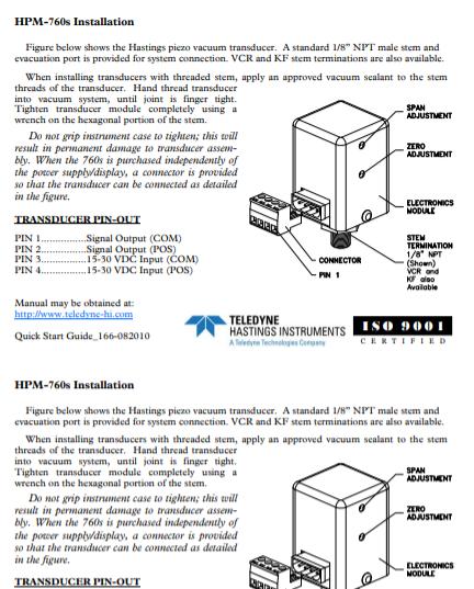 HPM-760S Installation