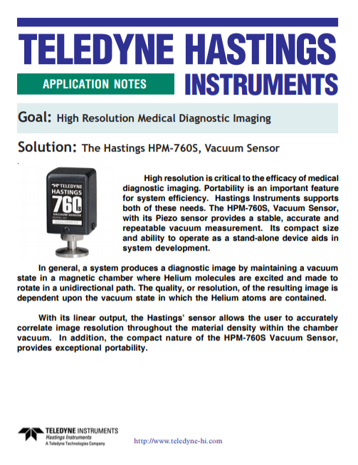 High Resolution Medical Diagnostic Imaging