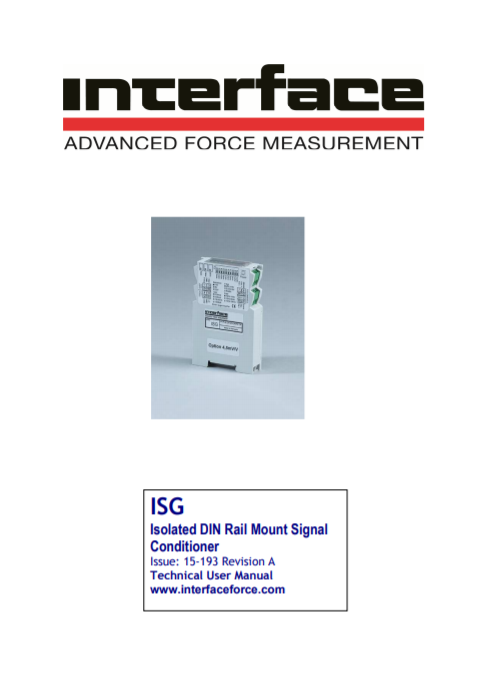 ISG-Isolated DIN Rail Mount Signal Conditioner-User Manual