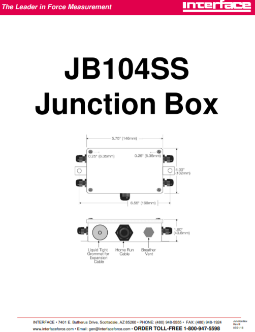 JB104SS-Operation Manual
