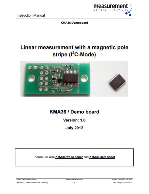 KMA36 linear measurement – Instruction Manual