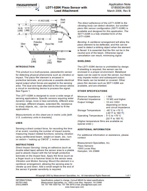 LDT1-028K Application Note