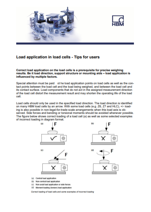 Load Application In Load Cells – Tips For Users