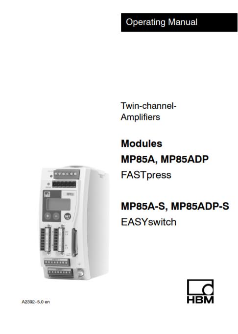 MP85A FASTpress Manual