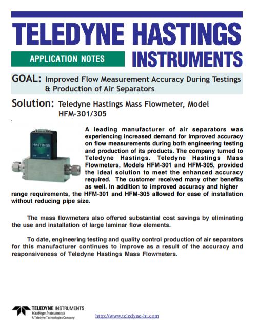 Manufacture of Air Separators
