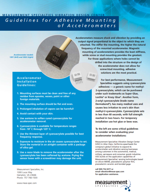 Mounting Guidelines – Adhesive