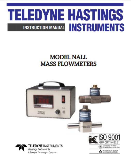 Nall Mass Flow Meter Manual
