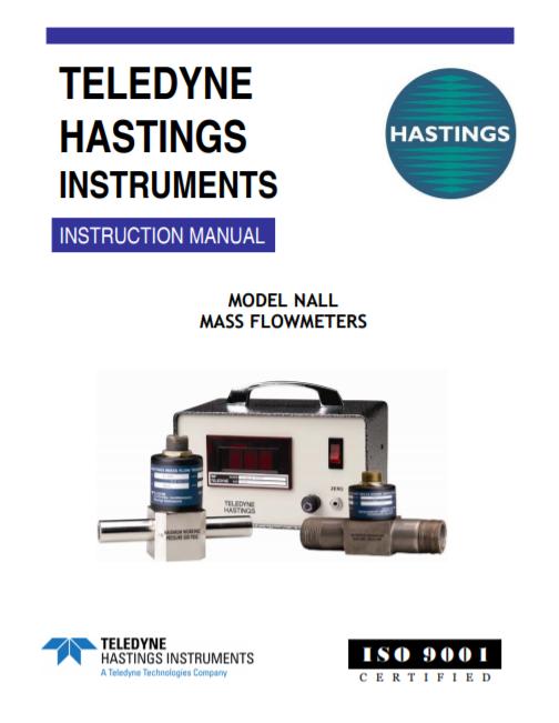 Nall Mass Flow Meter Manual