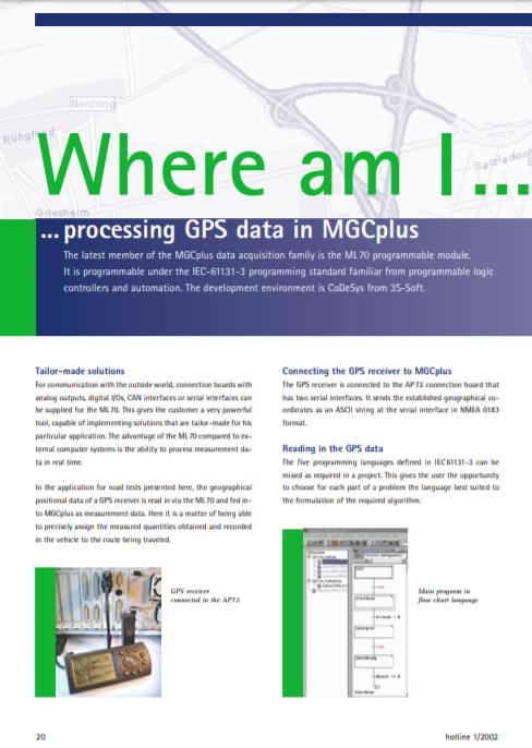 Processing GPS data in MGCplus
