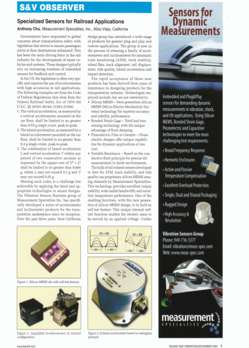 Railway Accelerometers