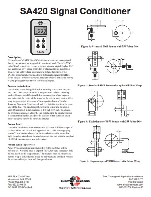 SA420 Manual