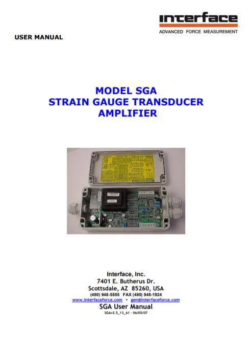 SGA Manual