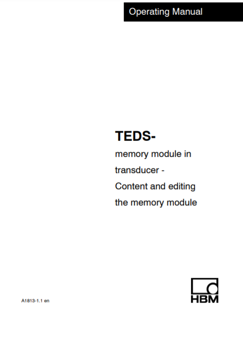 TEDS Operating manual on data processing
