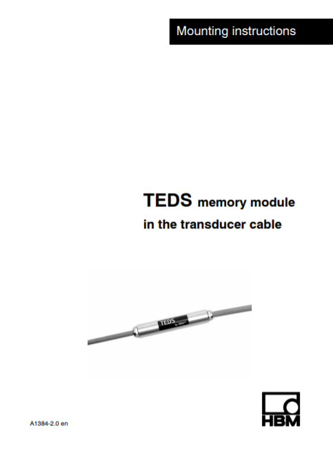 TEDS in cable – Installation Instructions