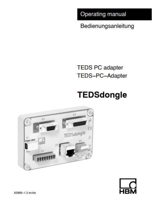 TEDSdongle Manual