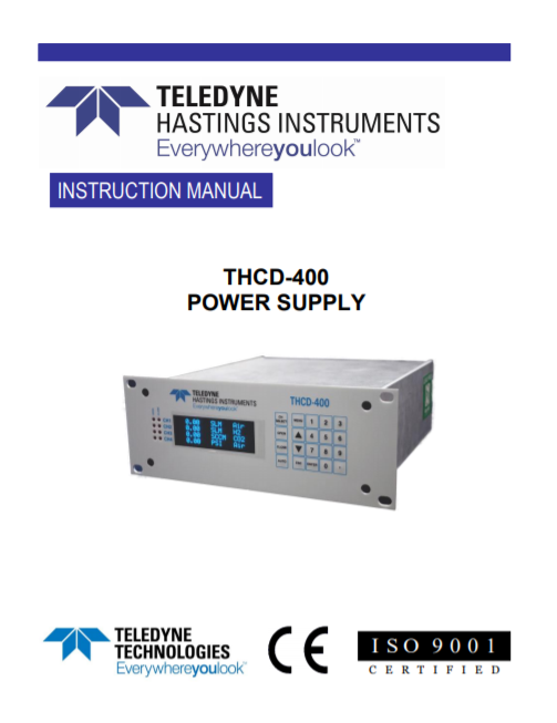 THCD-400 Power Supply