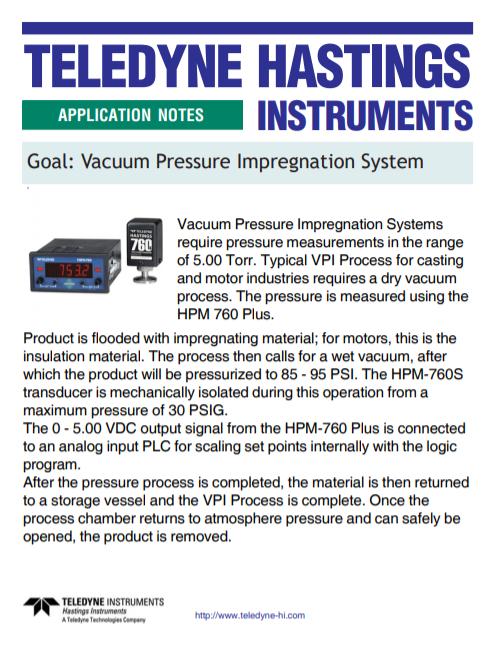 Vacuum Pressure Impregnation System