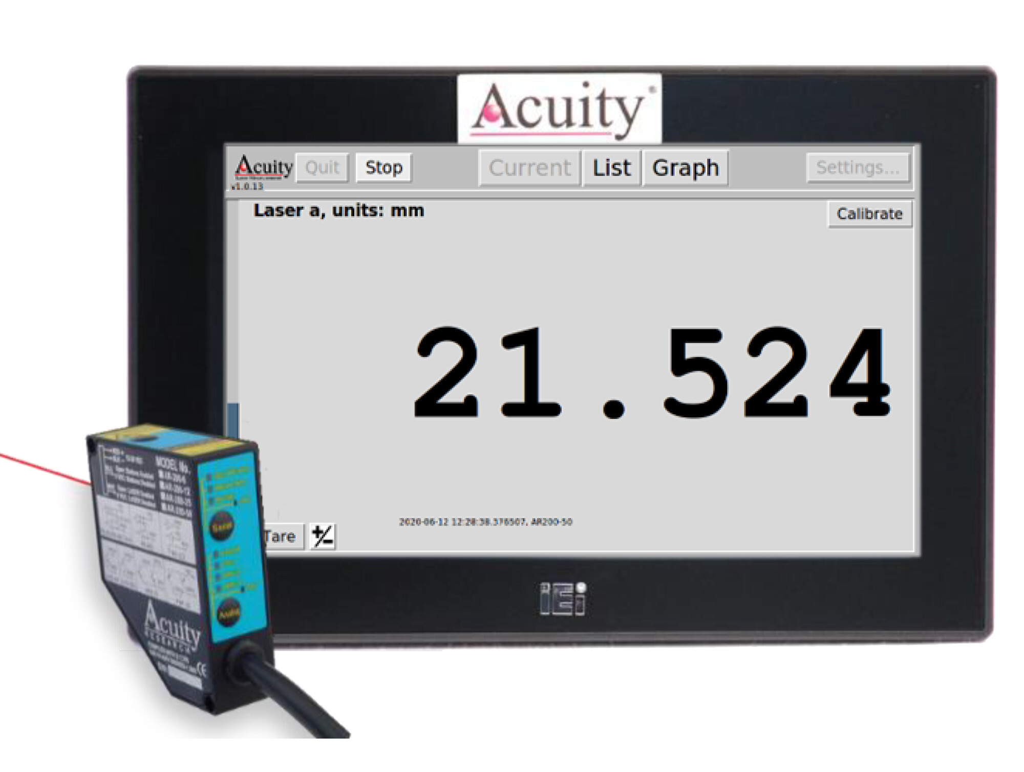 Acuity Laser Touch Panel Display