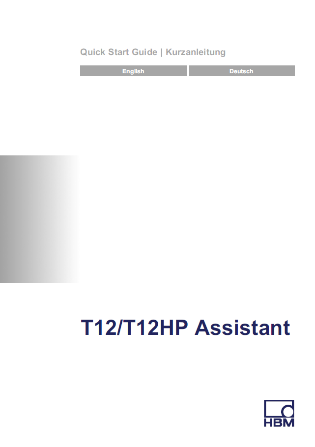 T12 – T12HP – Assistant – Quick Start Guide